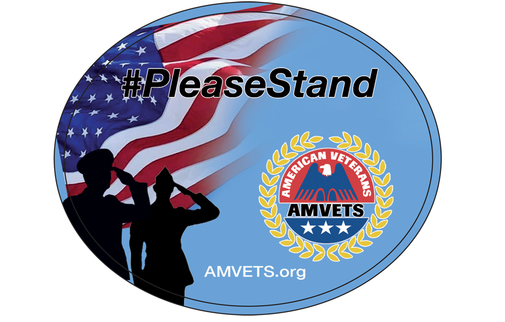 #PleaseStand Window Cling