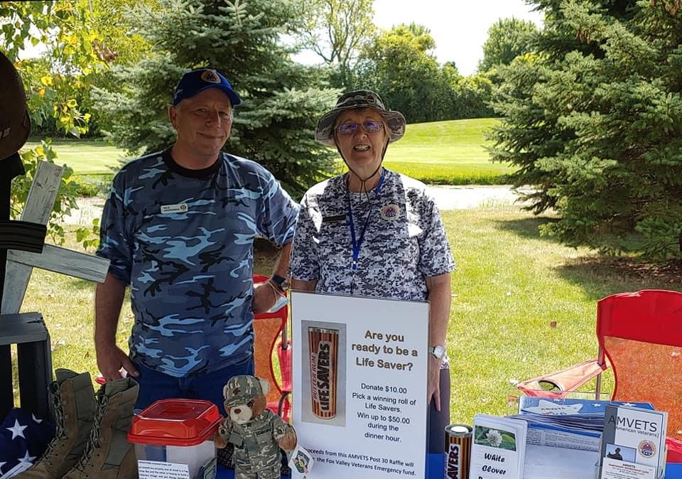 Rick V and Kim C at Elks Golf Hole 13 Aug 17 2020
