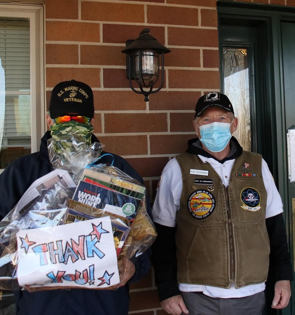 Thomas and Rick with LIvingTree Estates Veteran Gift Basket 11 11 2020
